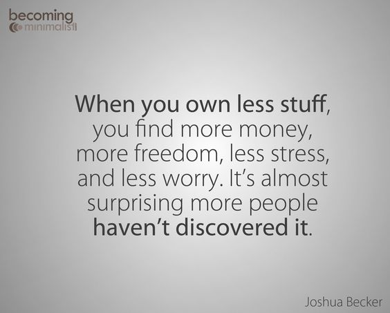 owning less